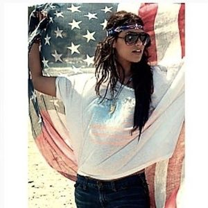 Chaser Tee Graphic Rock N Roll American Flag Large